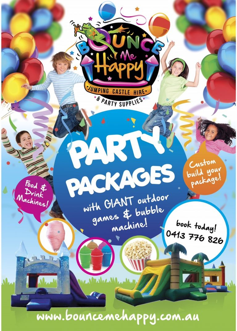 mega party package deal bounce me happy