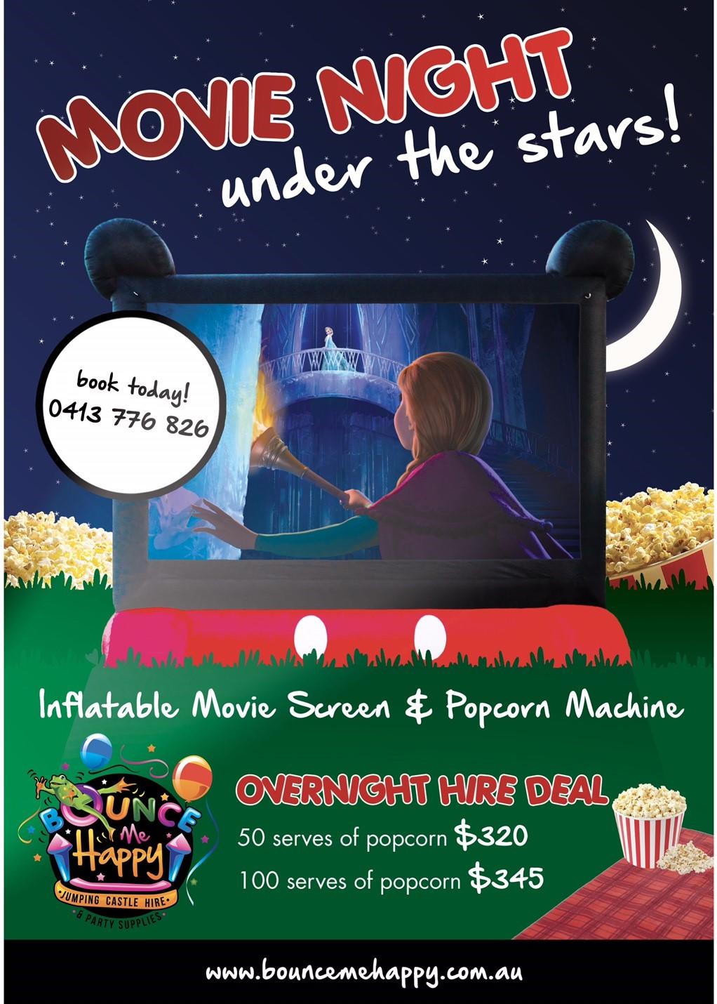 Outdoor Cinema Experience - Bounce Me Happy